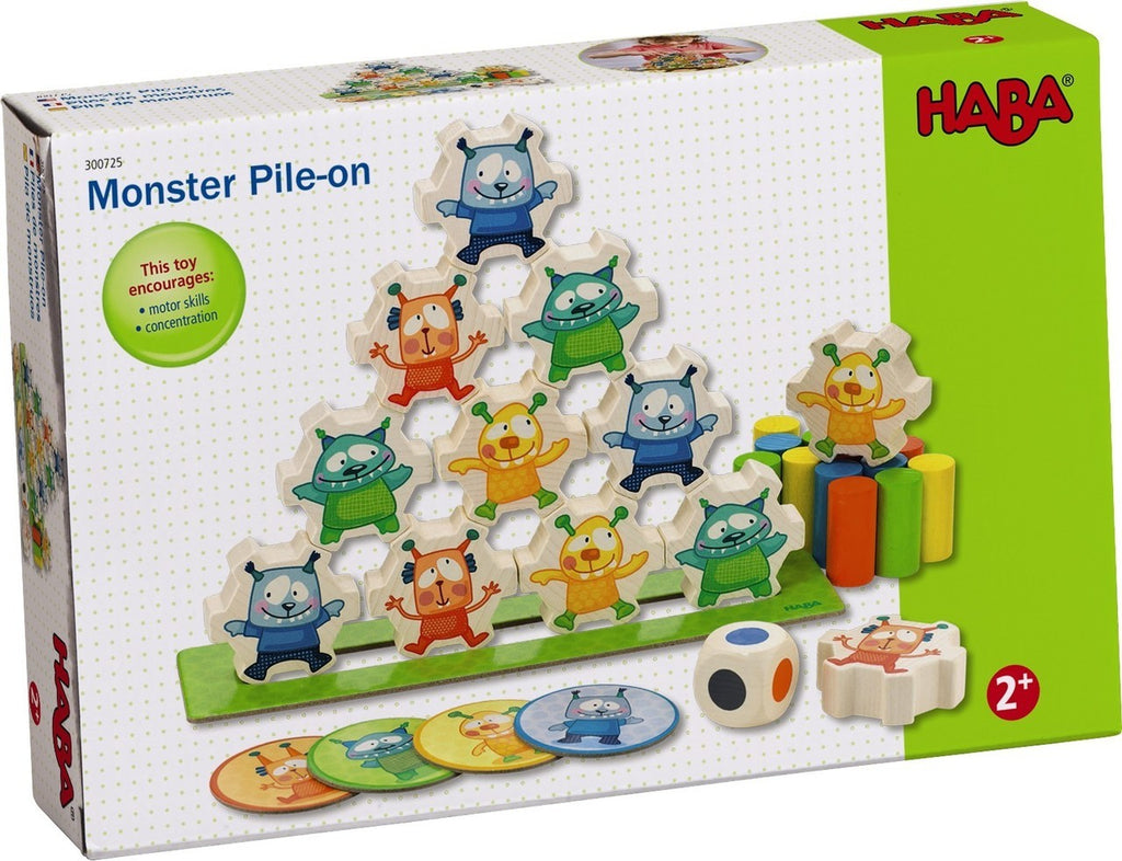 Haba 300725 Monster Pile On Stacking Blocks