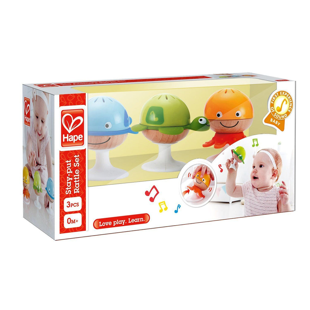 Hape E0330 Stay Put Rattle Set