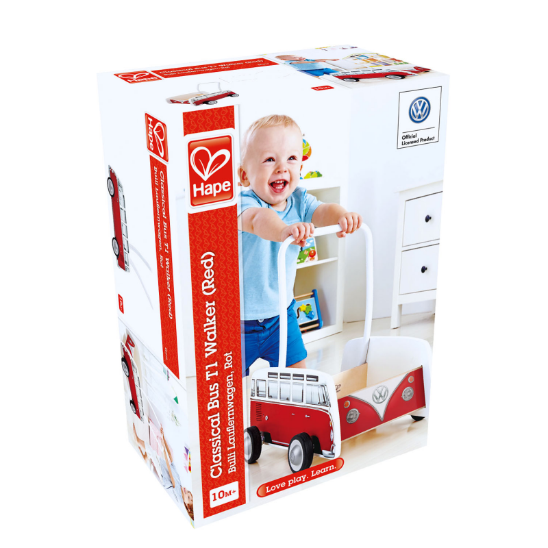 Hape E0379 Bus Walker Red