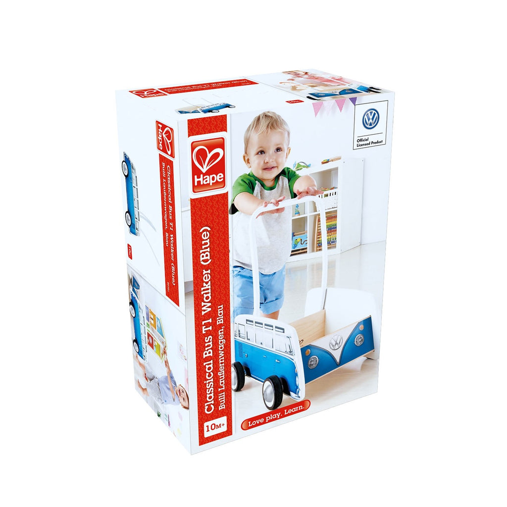 Hape E0381 Bus Walker Blue
