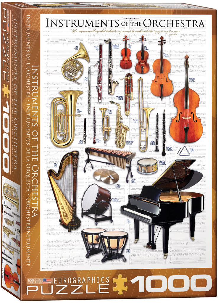 Eurographics Instruments of the Orchestra 1000 Piece Jigsaw Puzzle