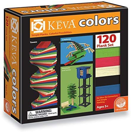 Keva Color Planks 120 piece Wooden Building Set