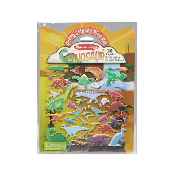 Dinosaur Puffy Sticker Play Set