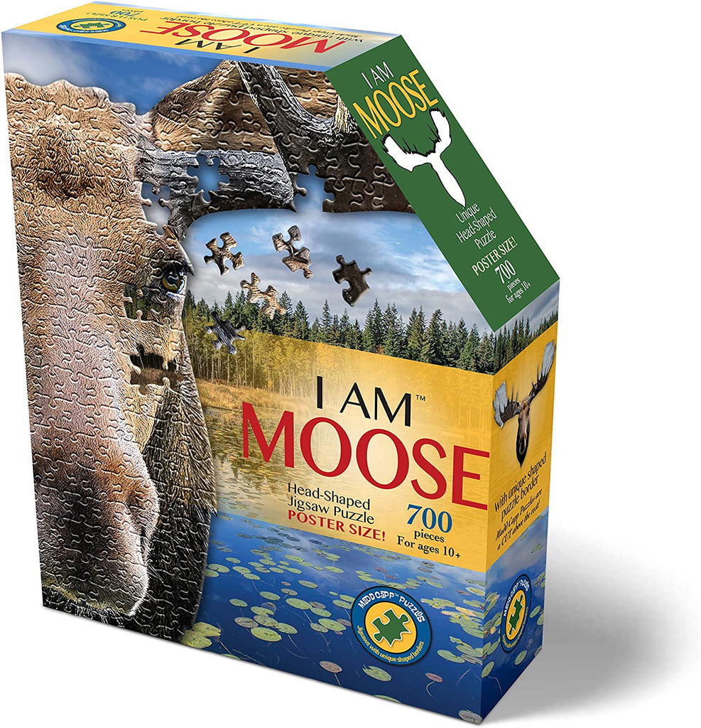 Madd Capp 700 Piece Moose Shaped Puzzle