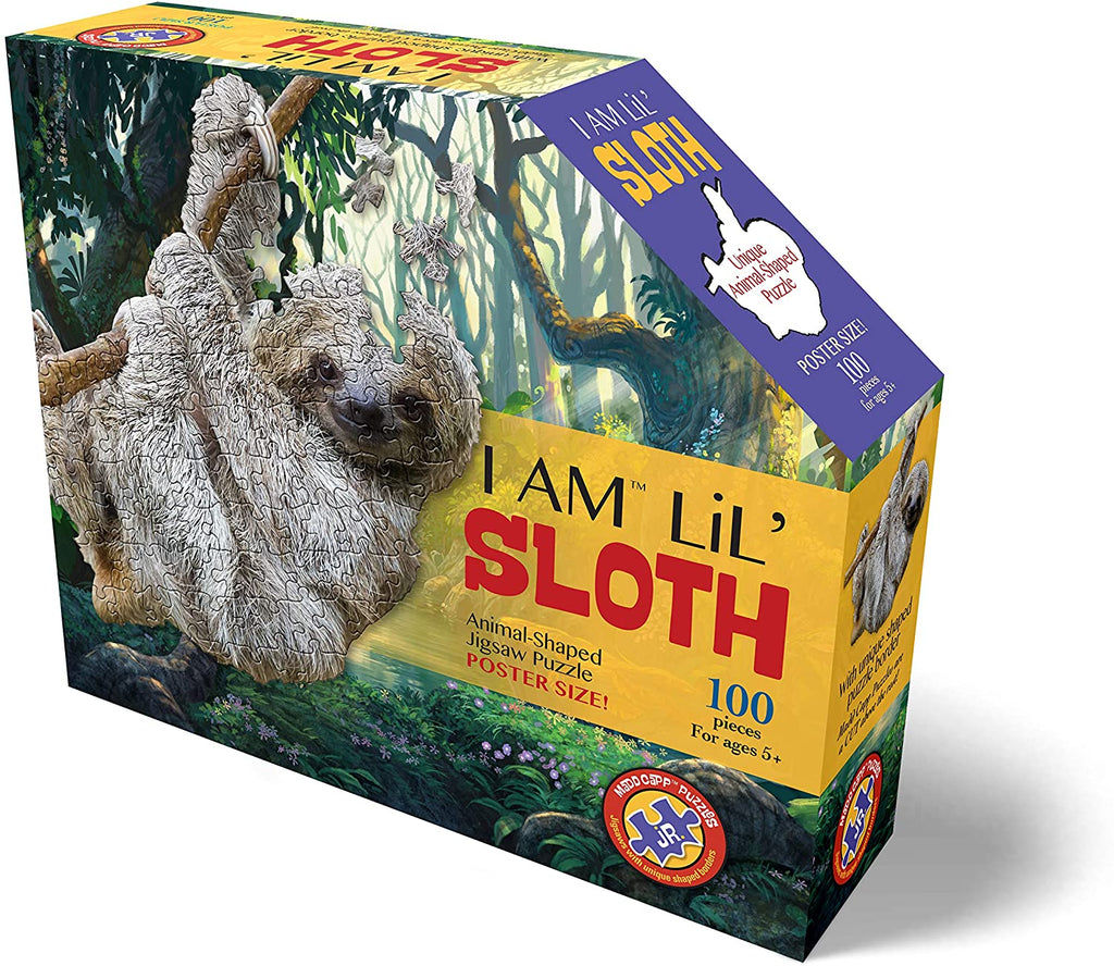 Madd Capp 100 Piece Sloth Shaped Puzzle