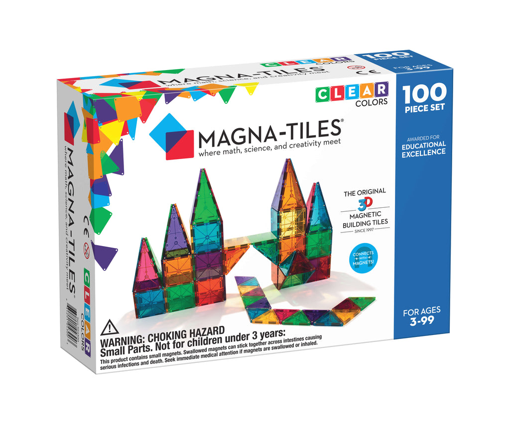 MagnaTiles Clear Colors 100 Piece Building Set