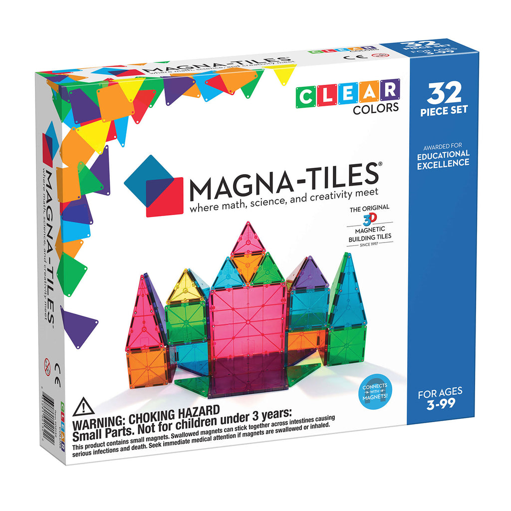 MagnaTiles Clear Colors 32 Piece Building Set