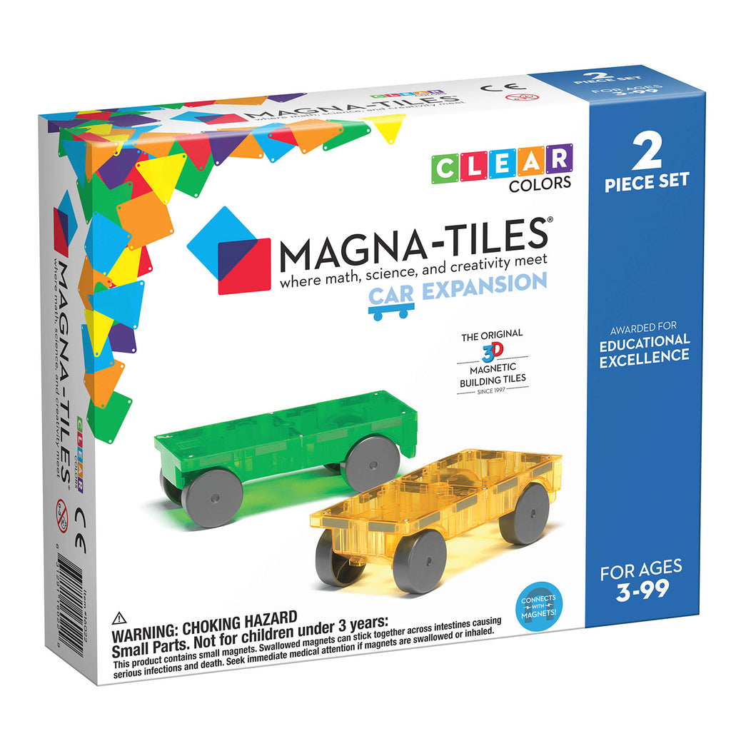 MagnaTiles Cars 2 Piece Expansion Set