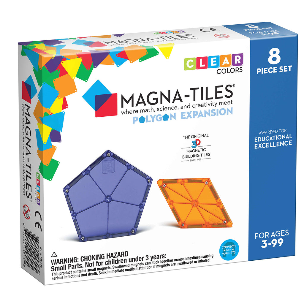 MagnaTiles Polygons 8 Piece Expansion Set