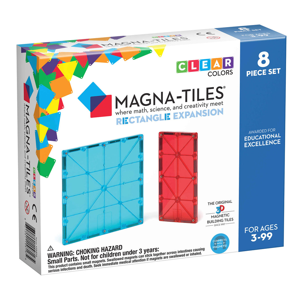 MagnaTiles Rectangles 8 Piece Expansion Set