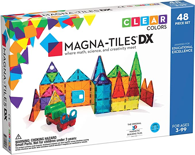 MagnaTiles Clear Colors 48 Piece Building Set
