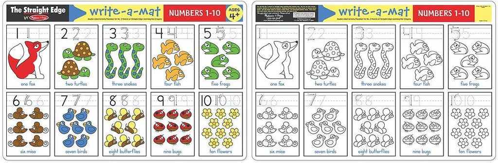 Numbers 1 to 10 Write A Mat