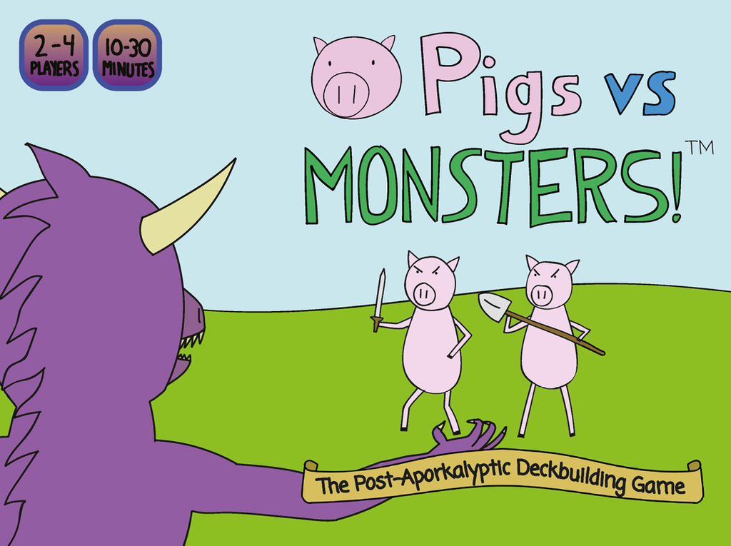 Pigs vs Monsters Post Aporkalyptic Card Game