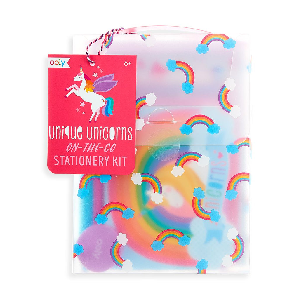 Ooly Unique Unicorns On The Go Stationery Kit