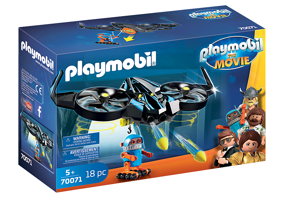 Playmobil Movie 70071 Robitron with Drone