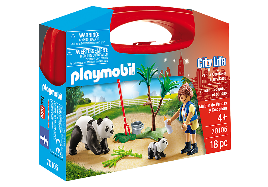 Playmobil 70105 Panda Caretaker Carry Case