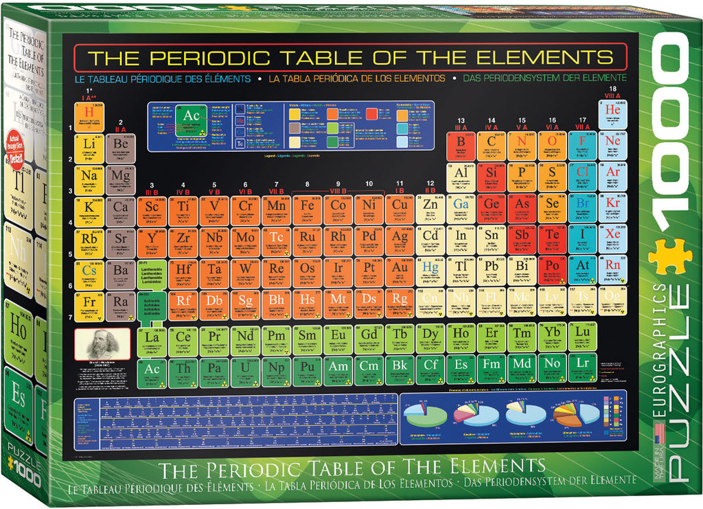 Eurographics Periodic Table 1000 Piece Jigsaw Puzzle