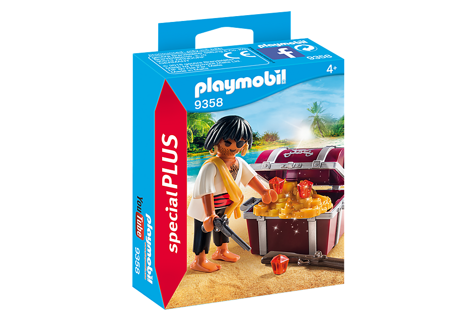 Playmobil 9358 Male Pirate with Treasure Chest