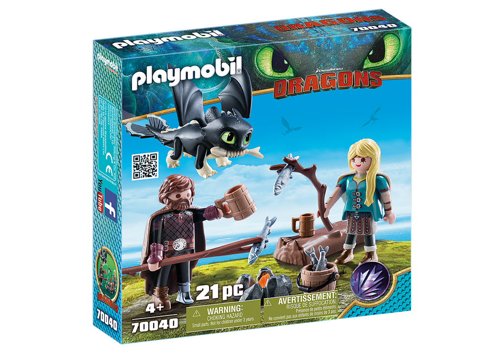 Playmobil 70040 Hiccup and Astrid with Baby Dragon