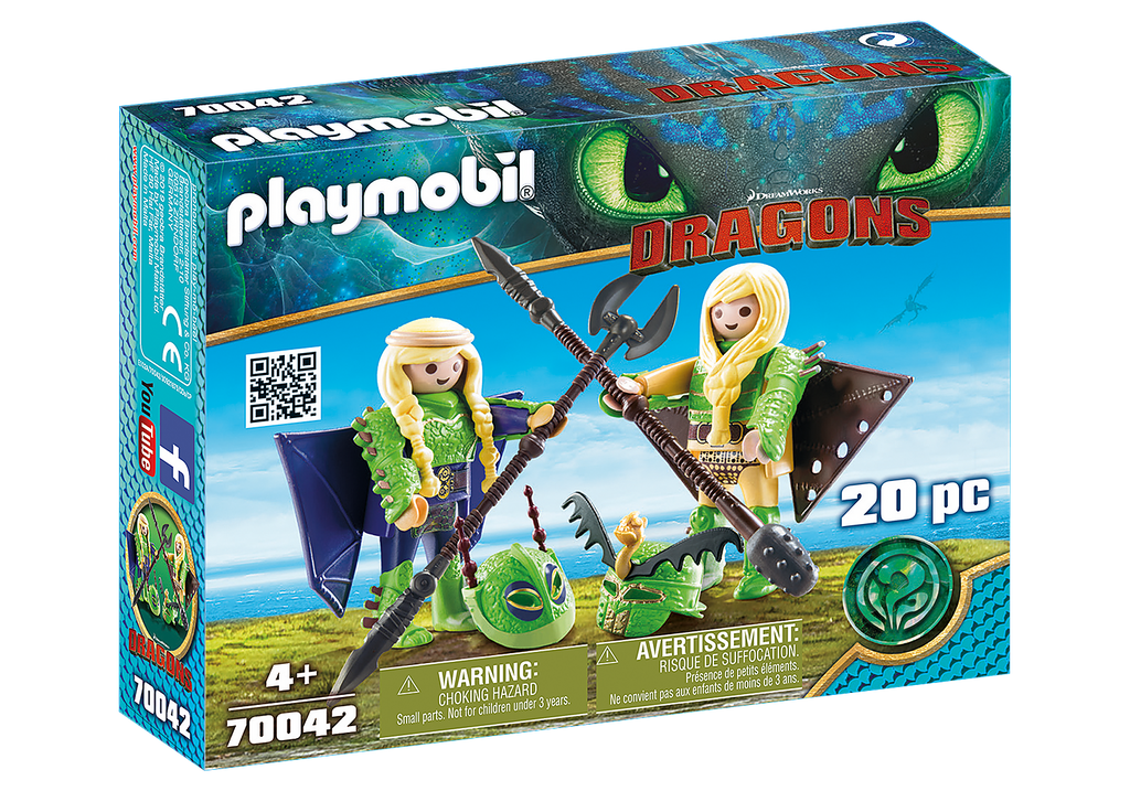 Playmobil 70042 Ruffnut and Tuffnut with Flight Suit