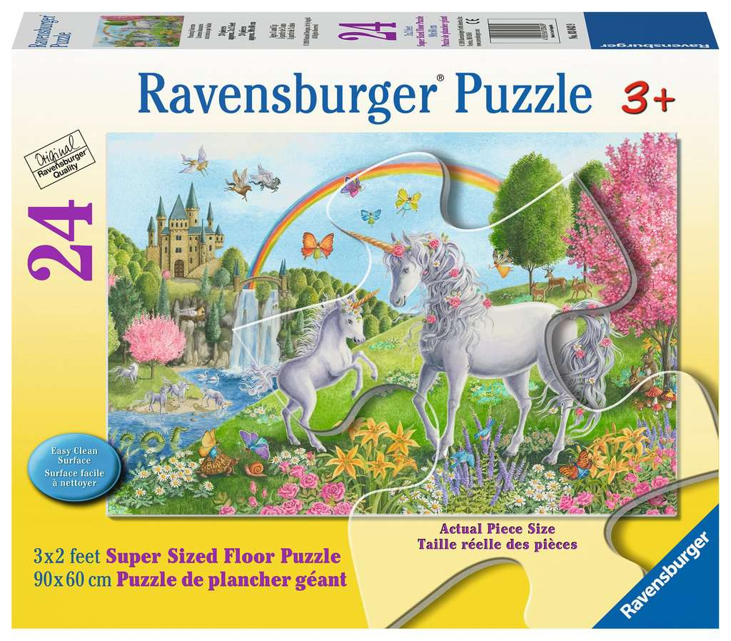 Prancing Unicorns 24 Piece Floor Jigsaw Puzzle