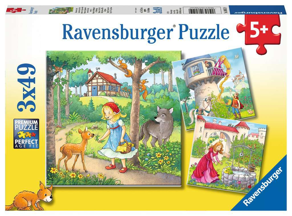 Fairy Tales Triple 49 Piece Kids Jigsaw Puzzle
