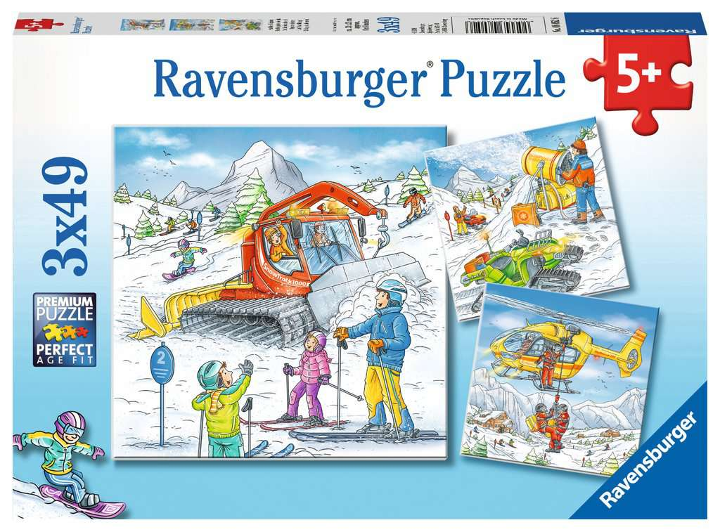 Lets Go Skiing Triple 49 Piece Kids Jigsaw Puzzle
