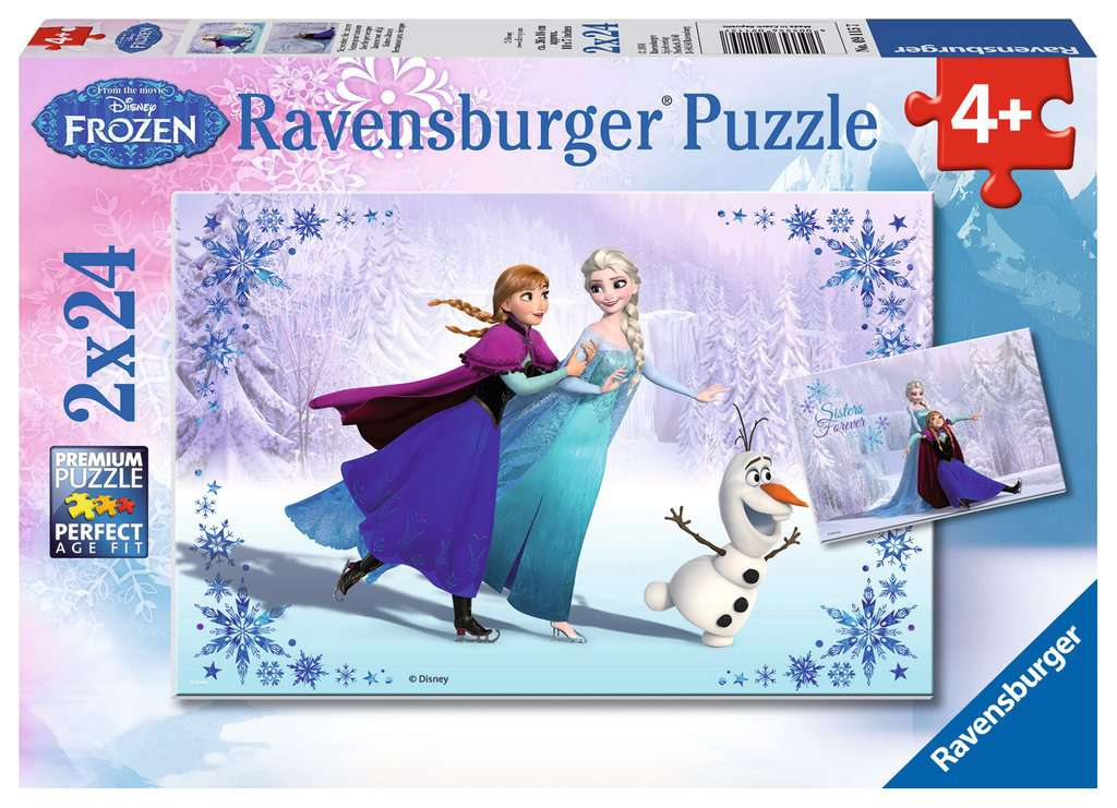 Frozen 2 Sisters Always Dual 24 Piece Kids Jigsaw Puzzle