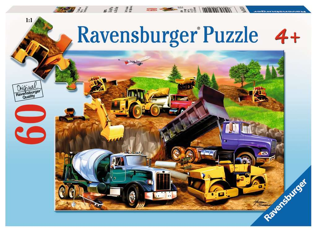 Construction Crowd 60 Piece Kids Jigsaw Puzzle