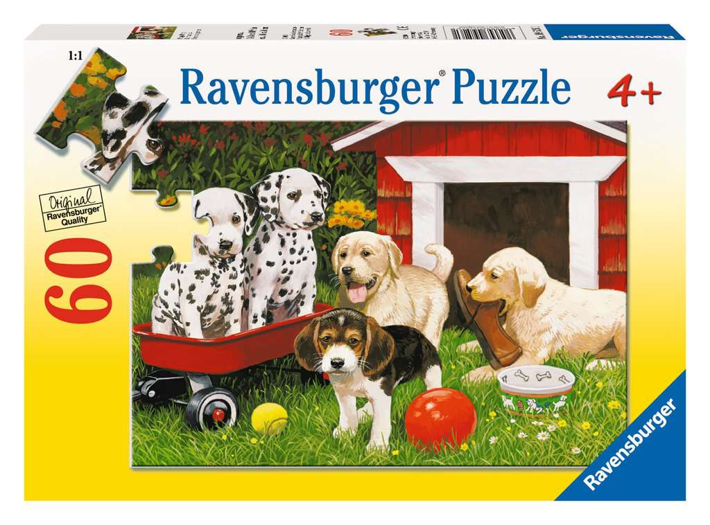Puppy Party 60 Piece Kids Jigsaw Puzzle