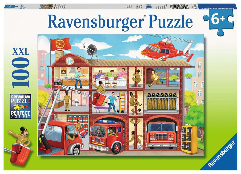 Firehouse Frenzy 100 Piece Kids Jigsaw Puzzle