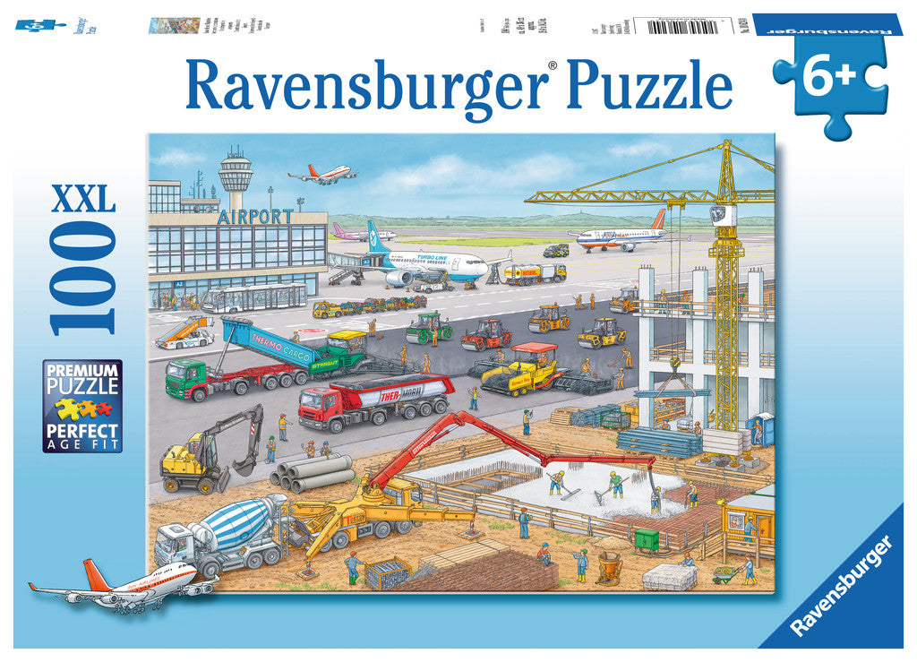Construction at the Airport 100 Piece Jigsaw Puzzle