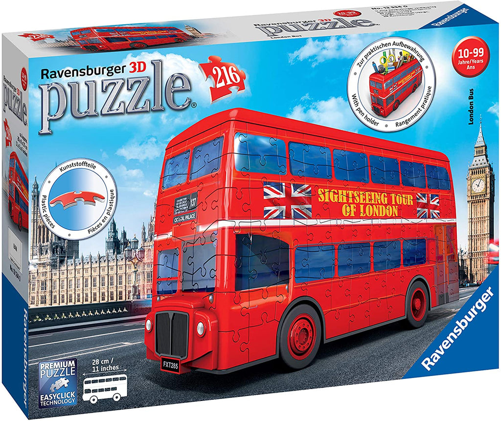 London Double Decker Bus 216 Piece Jigsaw Puzzle