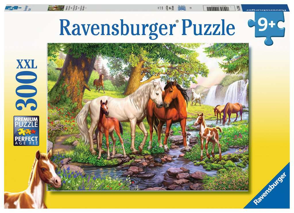 Horses by The Stream 300 Piece Jigsaw Puzzle