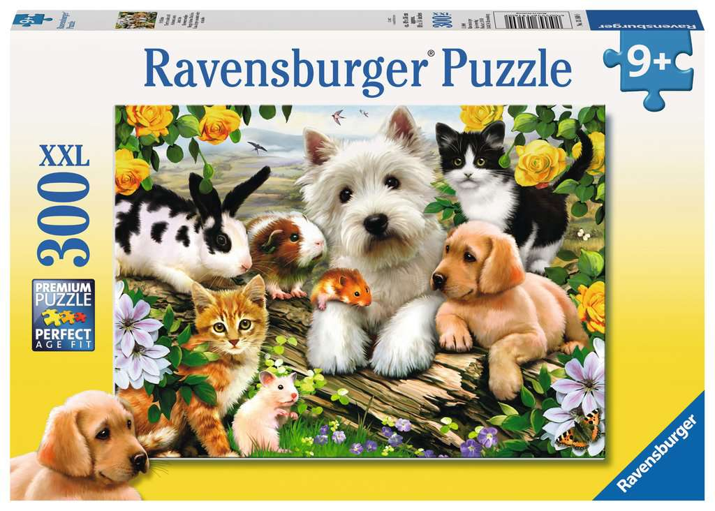Happy Animal Buddies 300 Piece Kids Jigsaw Puzzle