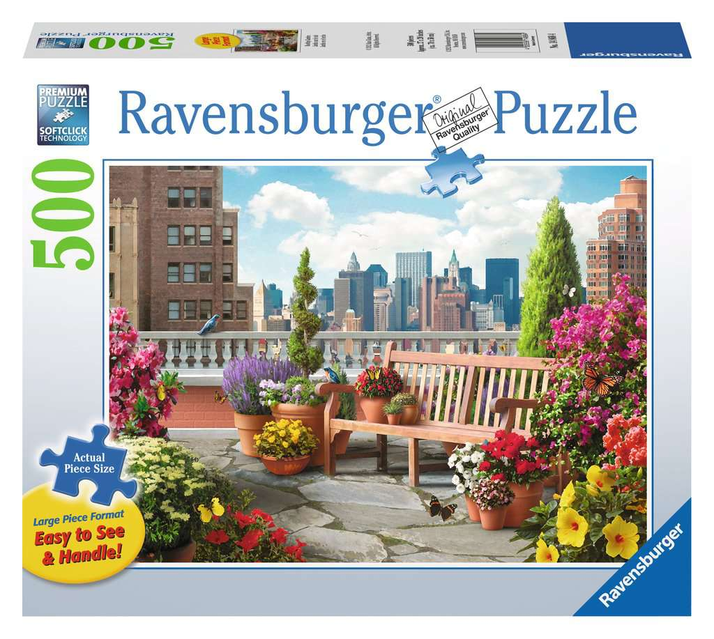 Rooftop Garden 500 Piece Large Format Jigsaw Puzzle