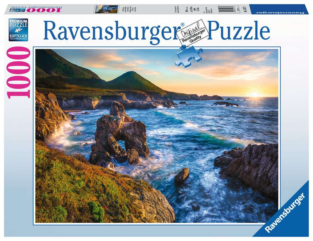 Big Sur Sunset 1000 Piece Jigwas Puzzle