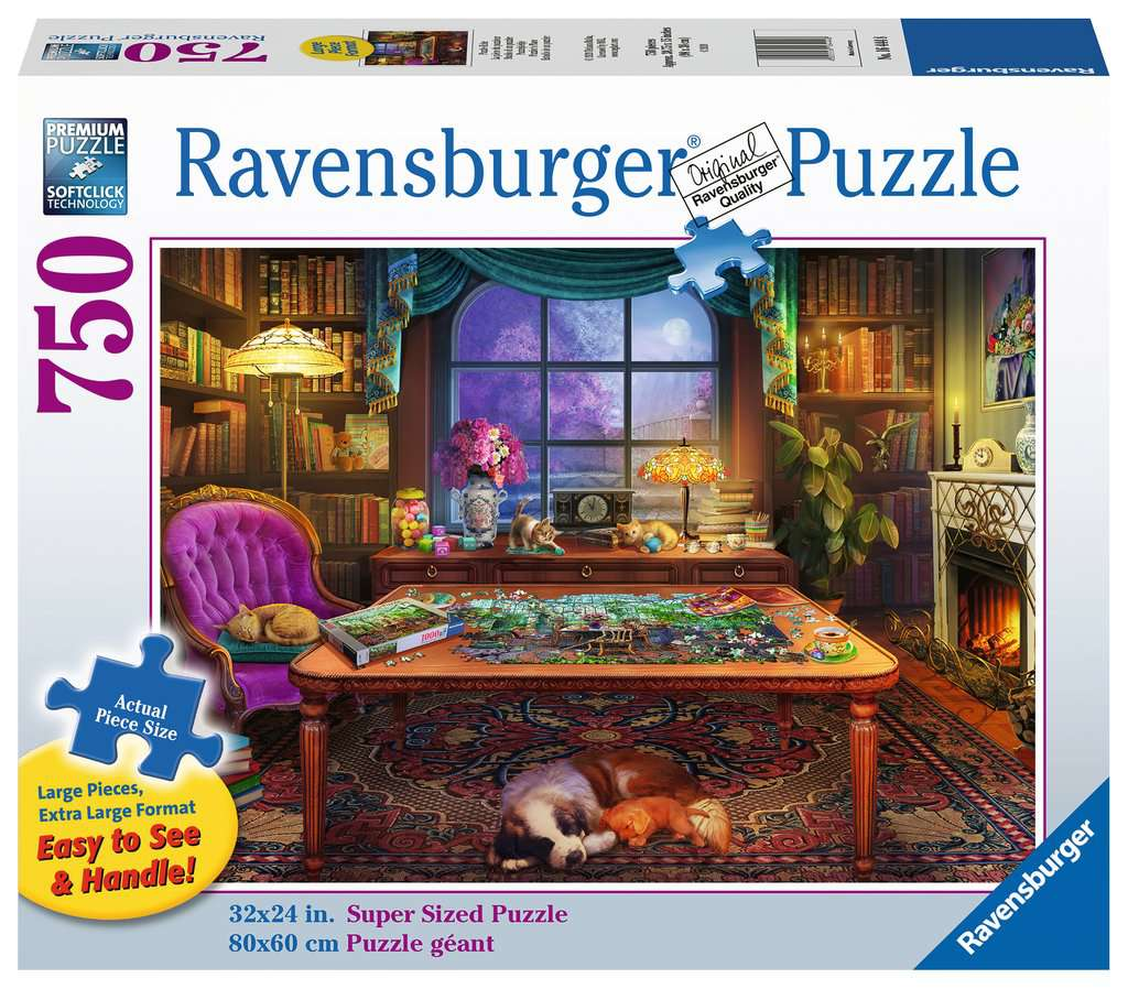 Puzzlers Place 750 Piece Large Format Jigsaw Puzzle