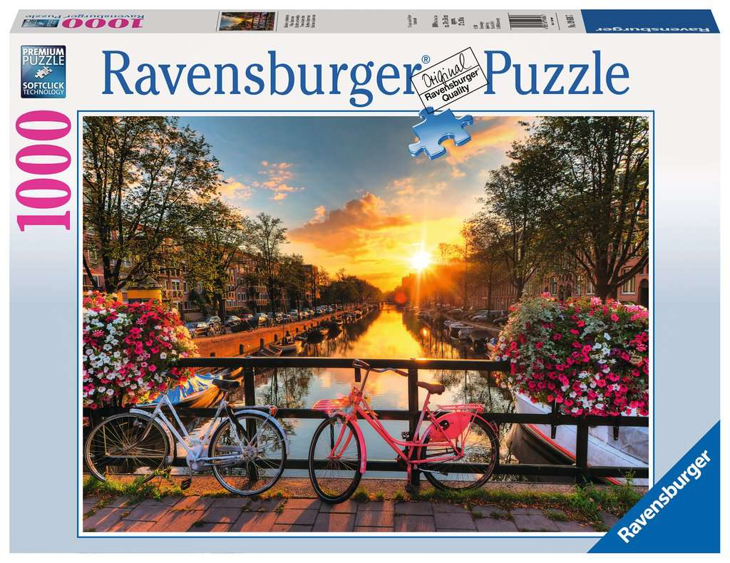 Bicycles in Amsterdam 1000 Piece Jigsaw Puzzle