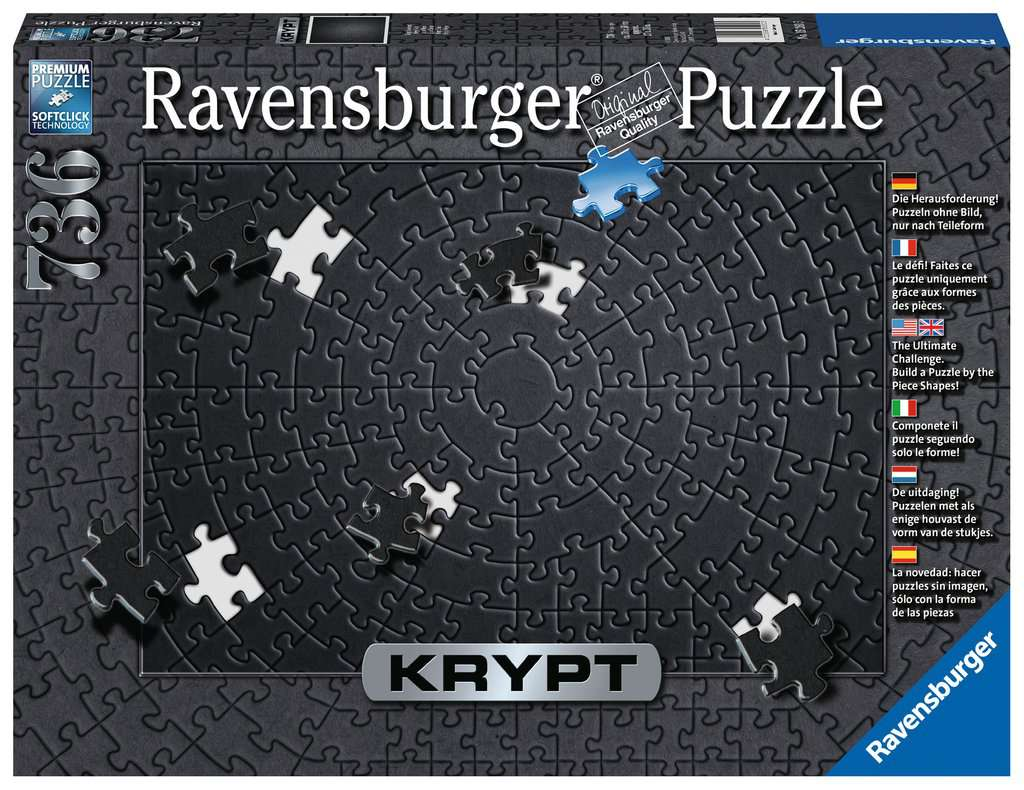 Krypt 654 Piece Black Blank Puzzle