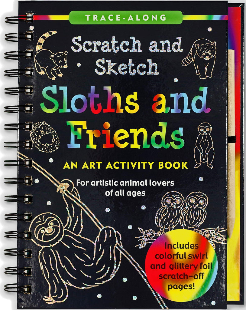 Sloths and Friends Scratch and Sketch Trace Along
