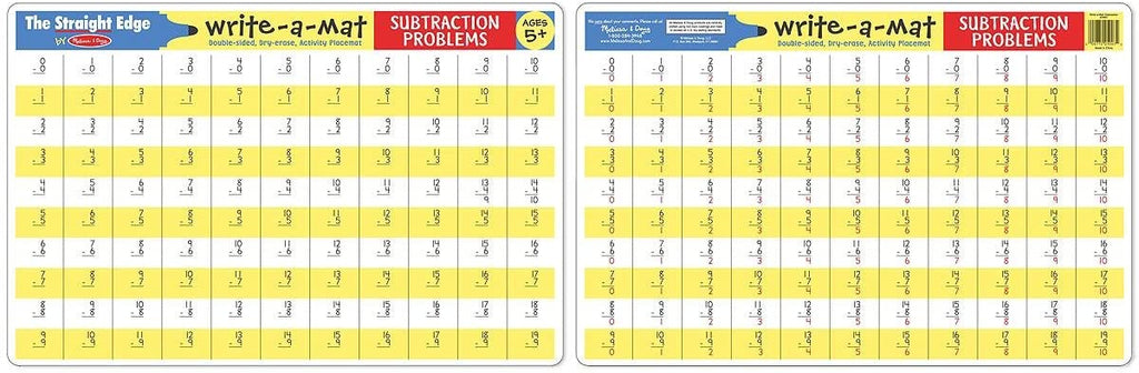 Subtraction Problems Write A Mat