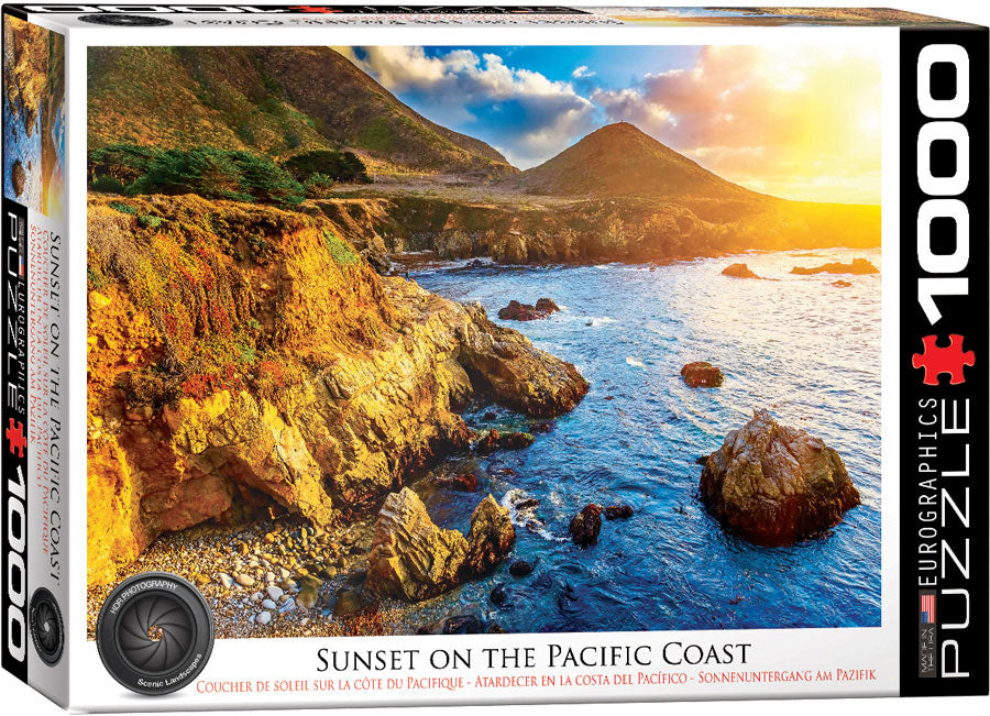 Eurographics Sunset on the Pacific Coast 1000 Piece Jigsaw Puzzle