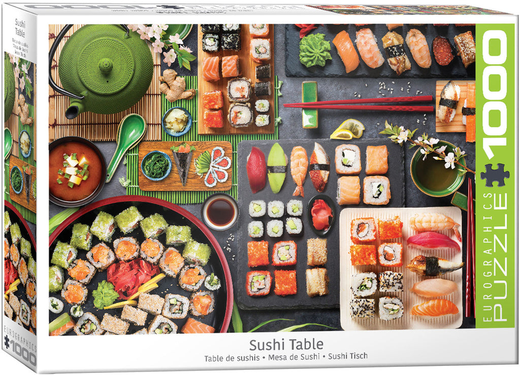Eurographics Sushi Table 1000 Piece Jigsaw Puzzle