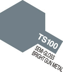 Tamiya Color TS-100 Semi Gloss Bright Metal Spray Paint