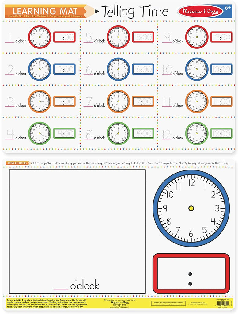 Telling Time Write A Mat