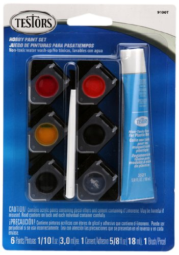 Testors 9100 Auto Detailing Six Color Acrylic Paint Set