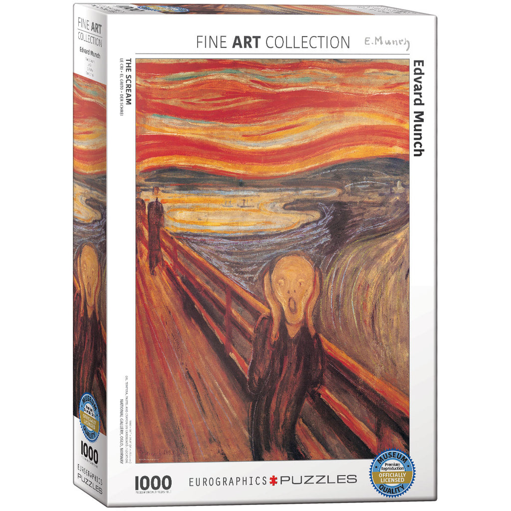 Eurographics The Scream Edvard Munch 1000 Piece Jigsaw Puzzle