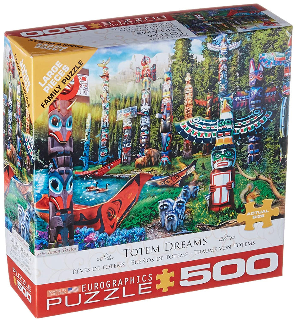 Eurographics Totem Dreams 500 Piece Jigsaw Puzzle