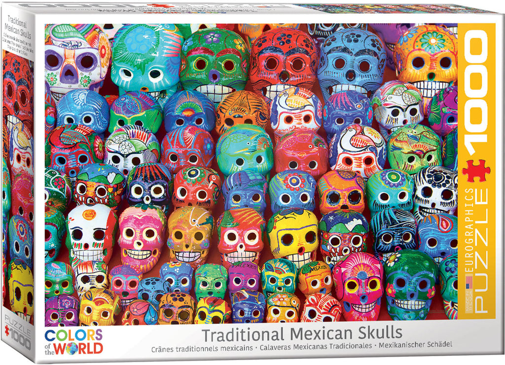 Eurographics Traditional Mexican Skulls 1000 Piece Jigsaw Puzzle
